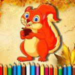 Squirrel Coloring Book